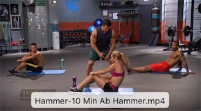 10 MIN AB HAMMER WORKOUT of mhc