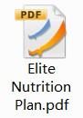 Elite Nutrition Plan PDF